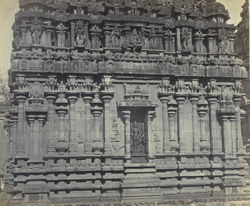 Tanjore Pagoda. The Subramanya Temple. Detail of west facade.